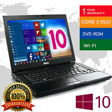 DELL LAPTOP LATiTUDE WINDOWS 10 CORE 2 DUO 4GB 160GB WIN DVD WIFI PC HD NOTEBOOK