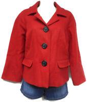 Women's Kim Rogers Red 3/4 Sleeve Jacket Size 10 Regular