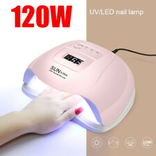 120W Nail Lamp UV LED SUN Light Professional Nail Dryer Gel Curing Machine Timer
