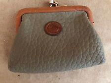 Vintage Dooney & Bourke leather kiss lock coin purse wallet purse accessory