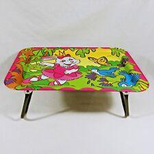 Metal Folding TV Lap Tray Bunny Ballet Blue Birds Butterfly