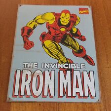 Marvel The Invincible Iron Man Lithographed Steel Metal Sign 2009