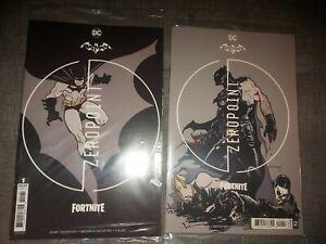 BATMAN FORTNITE ZERO POINT #1 & #2  FIRST PRINTS DC COMICS - SEALED W/GAME CODE