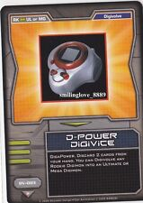 BANDAI DIGIMON COLLECTIBLE CARD GAME NON-FOIL RARE - DV-003 D-POWER DIGIVICE