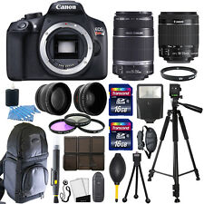 Canon EOS Rebel T6 DSLR Camera + 18-55mm IS II + 55-250mm 4 Lens 32GB Valued Kit