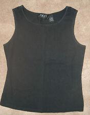 WOMENS FINITY Black Cotton/Spandex Top  Tank Size LARGE L