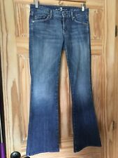 Seven For All Mankind A Pocket Womens Flare  Jeans 26 Faded Mid Rise Medium Wash