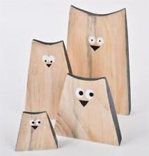 Figuras decorativas de color principal beige de madera para el hogar
