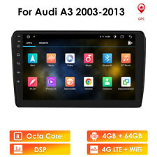 """For Audi A3 Android 10 9"""" 8-Core 4+64GB Car Stereo Radio GPS Wifi DSP 4G Carplay"""