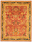 """Vintage Hand-knotted Carpet 9'1"""" x 11'10"""" Traditional Red Wool Area Rug"""