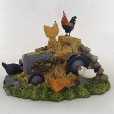 Farmyard Tractor Scene Sculpture Animal Figurine Gift Hand Paint Bowbrook 04021