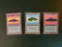 3x ISLAND Beta Collector's Edition Magic the Gathering MTG CE Islands Beta Land