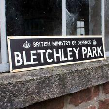 VINTAGE BLETCHLEY PARK Sign VINTAGE ADVERT POSTER WW2 MOD Sign METAL ARMY SIGN,