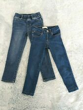 2 Girl Blue Jeans Size 5 / 4-5 Years Zara Girls & GAP denim Medium Wash Slim EUC