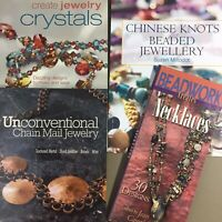 Lot of 4 jewelry making books Crystals, Chain Mail, Beadwork, Chinese Knots