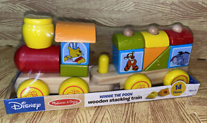 Melissa & Doug Disney Winnie The Pooh Wooden Stacking Train Sealed 14 Pieces New
