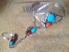 Coral Silver Bracelets Native American Jewellery