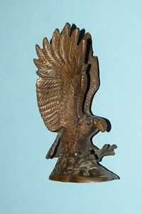 Eagle Hawk Vintage Table Décor Antique Brass Furious Flying Bird Statue EK759