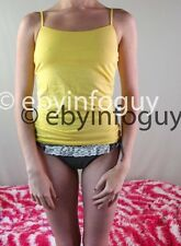 Womens Aeropostale Yellow Stretch Spaghetti Strap Cami Size M Medium