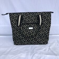 Tommy Hilfiger Handbag / Tote with TH Design Fabric Imitation Leather Free Ship