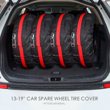 "4Pcs Universal 13-19"" Car SUV Spare Wheel Tyre Tire Cover Carry Tote Storage Bag"