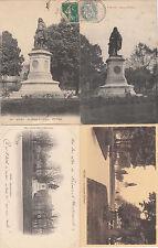 Lot 4 cartes postales anciennes REIMS statue de colbert