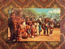 Vintage Postcard Indian Dance Group