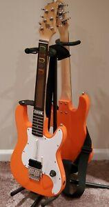Pair of Logitech Wireless Guitar Hero Orange Guitars Rare - Excellent Condition