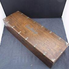 schöne alte Kiste Holz mit Silberbeschlägen ca.um 1860