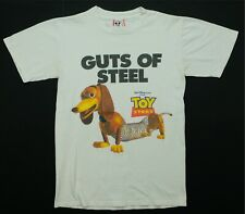 Rare Vintage DISNEY Toy Story Guts of Steel Slinky Dog Totally T Shirt 90s SZ S