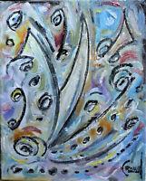 PANDEMIQUE PROBLEMIQUE new 8x10 canvas original art oil painting signed Crowell