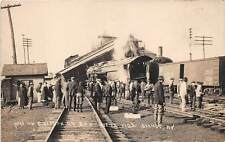 SIDNEY, DELAWARE COUNTY, NY, 1922 TRAIN WRECK ON D & H RAILROAD, REAL PHOTO PC