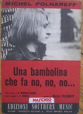MICHEL POLNAREFF PARTITION ITALIE 1966 UNA BAMBOLINA CHE FA NO NO NO LA POUPEE