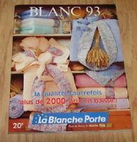 """catalogue"""" la blanche porte"""" petit catalogue de blanc 1993"""