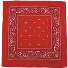 Bandana rossa per la guida di veicoli 100% Cotone