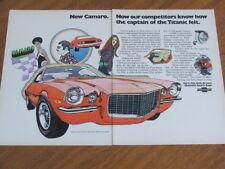 1970 Chevrolet Camaro and Corvette original US four page advertisement