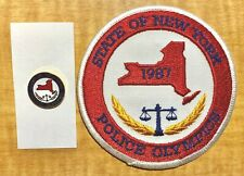 Police New York State Police Olympics Patch and Lapel Pin Set 1987