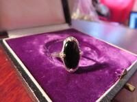 Ovaler Silber Ring Jugendstil Art Deco Schiff Antik Retro Vintage Klein Filigran