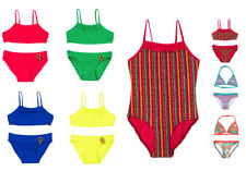 Girls Kids Childrens Swimsuit Swimming Costume Bikini Set Beachwear 2-13 Years