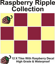 """6"""" Tile Transfers Stickers 12 +  Free Printed transfer Raspberry Ripple collecti"""