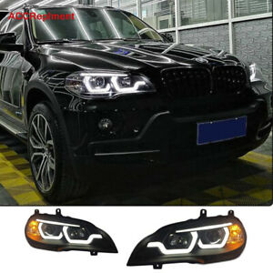 New Upgrade For BMW X5 E70 Headlights assembly 2007-2013 Projector LED DRL