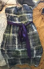 Anthropologie Edme & Esyllte London Strapless dress 6 Purple Motif