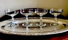 Vintage Champagne Cocktail Coupes Martini Glasses Retro Cut Stemware Barware 4