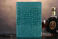 Folio Crocodile Wallet PU Leather Smart Auto SleepWake Case Cover For Apple iPad
