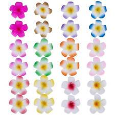Mudder 24 pieces 2.4 in (environ 6.10 cm) Hawaiian Plumeria Cheveux Fleur Mousse Hawaii clips cheveux