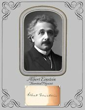 Albert Einstein, Theoretical Physicist, Photograph and copy of autograph