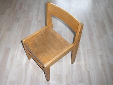 Stabiler Stuhl massiv Holz Kinderstuhl Kindergartenstuhl 60er-70er Shabby Chic