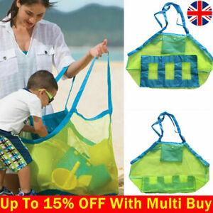 Foldable Summer Beach Shoulder Bag Mesh Storage Kids Toy Clothes Large Pouch Bag