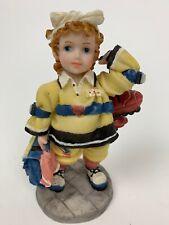 Vtg Girl School Figurine Montefiori Collection Italy Design School Girl Figurine
