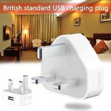 USB Adapter Charger 3 Pin UK Main Plug-For phone iphone 5 MAX IPAD 7 X 5s-6 Hot